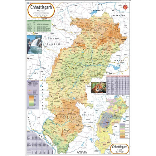 Chhatisgarh Physical Map