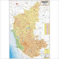 Karnataka Physical Map - Karnataka Physical Map Exporter