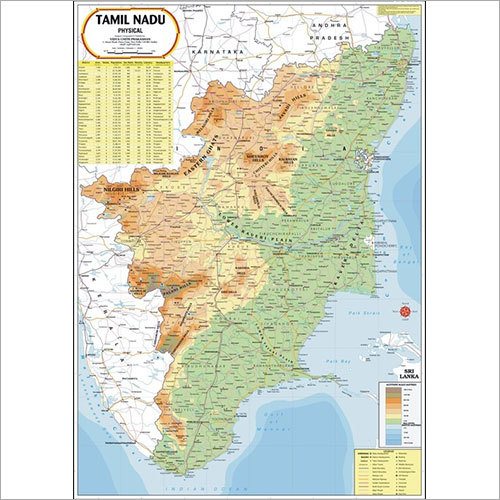 Tamil Nadu Physical Map Tamil Nadu Physical Map Exporter