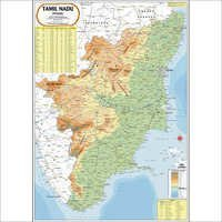 Tamil Nadu Physical Map