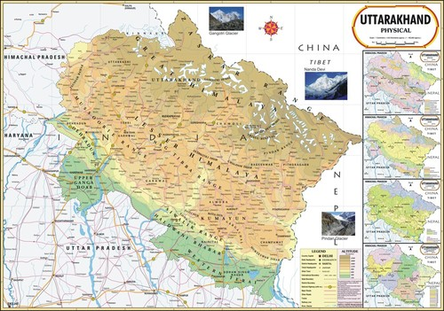 Uttarakhand Physical Map Uttarakhand Physical Map Exporter