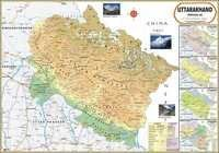 Uttarakhand Physical Map