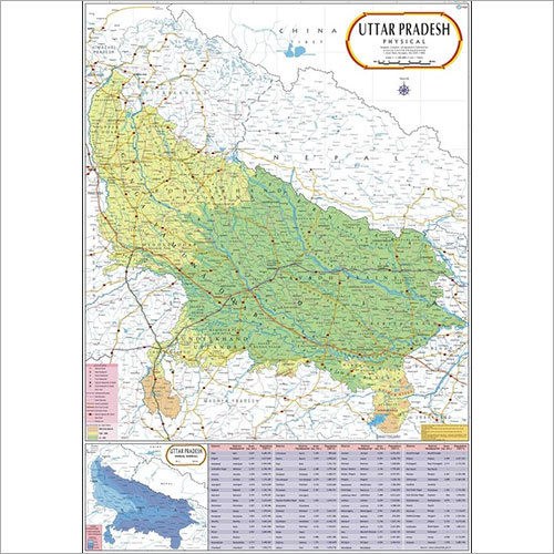 Uttar Pradesh Physical Map