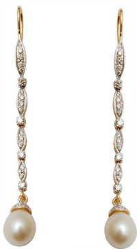Long Drop Pear Hook Gold Earrings Sets