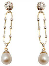 Diamond Pearl Jewelry Earring Design Online