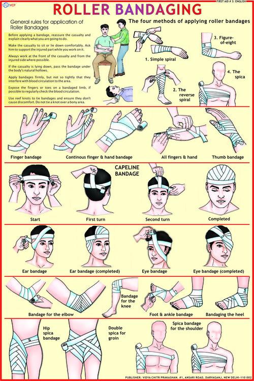 Roller Bandages Chart