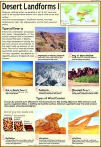 Desert Landforms : Types of Deserts & Wind Chart