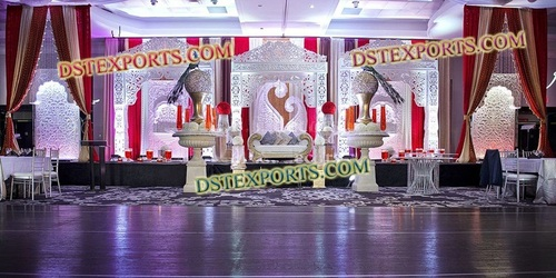 LATEST WEDDING MEHANDI STAGE SET