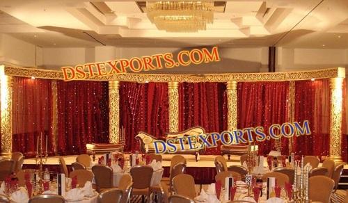 WEDDING GOLDEN CARVED STAGE SET