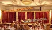 WEDDING GOLDEN CARVED STAGE SET