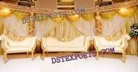 WEDDING GOLD STAGE SET