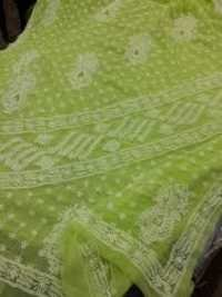 Hand Embroidered Chikan Sarees