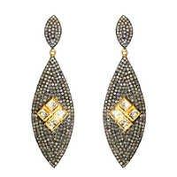 Gold Diamond Earrings Jewelry