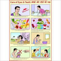 Eyes & Teeth Caring Chart