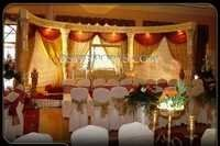 WEDDING FIBER CRYSTAL PILLARS STAGE