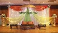MUSLIM WEDDING COLOURFUL MEHANDI STAGE