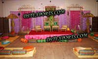 WEDDING DECORATED MEHANDI STAGE SET