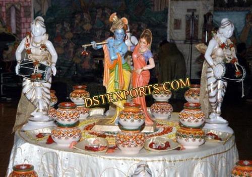 INDIAN WEDDING RADHA KRISHAN STAGE SET