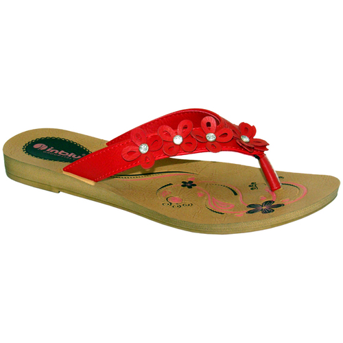 Diamond Upper Ladies Flat Slipper