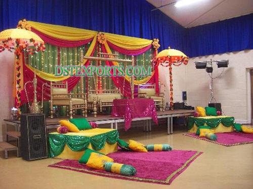 INDIAN WEDDING COLOURFULL MEHANDI STAGE 5464