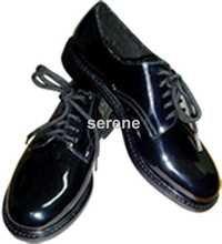 Plain black school shoes