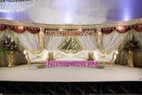 WEDDING GOLD CRYSTAL STAGE SET