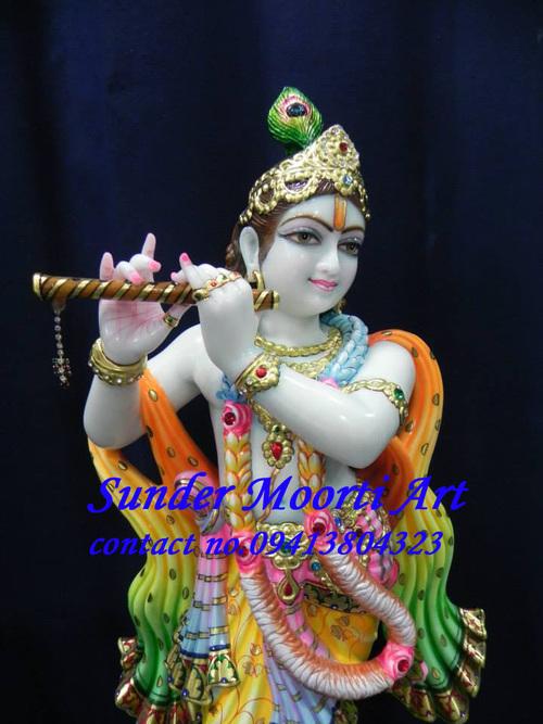 Marble Kishan Bhagwan Statue