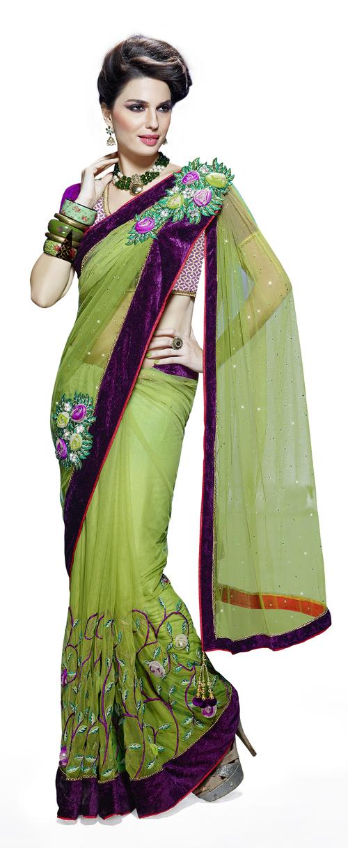 Detachable Double Pallu Designer Elegant Saree