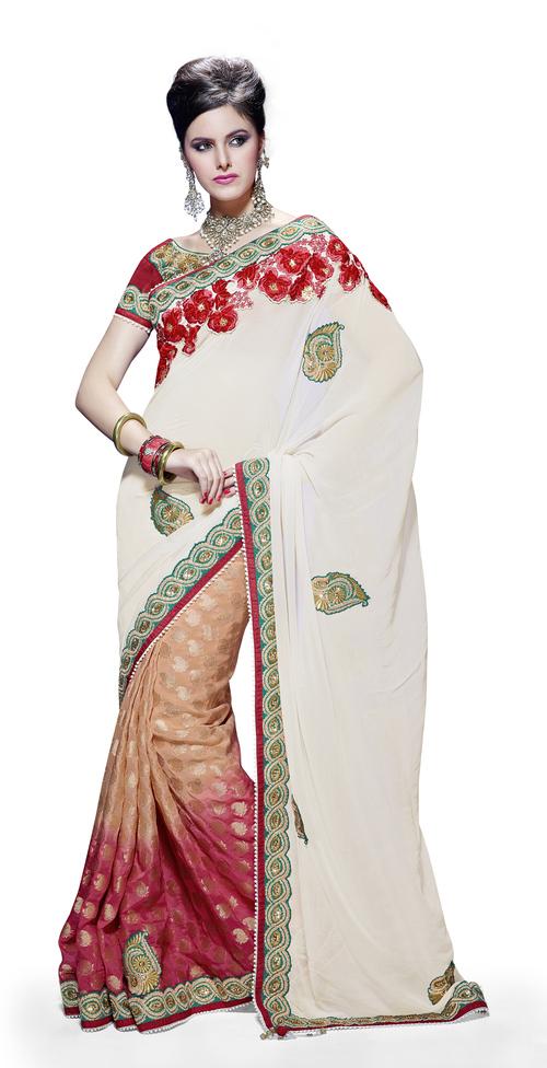 Floral Designer Butta Saree