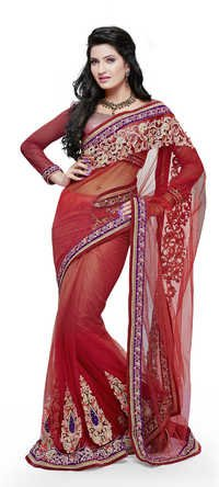 Elegant Patch Handwork Saree