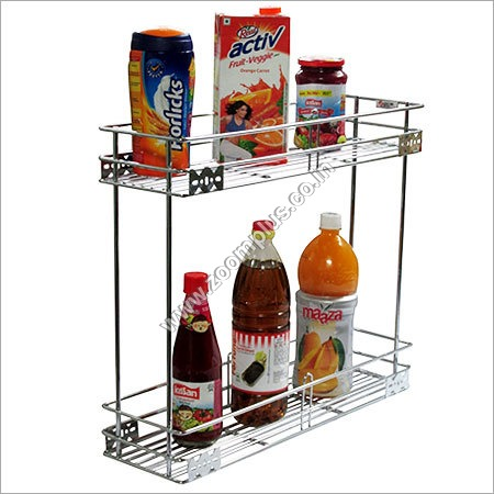 2 Tier Pull Out Wire Basket