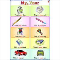 My - Your English Chart