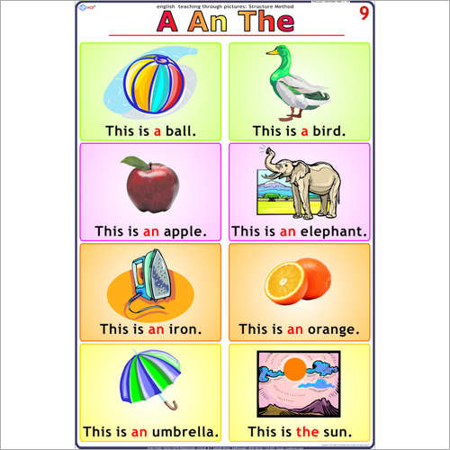 A - An - The English Chart