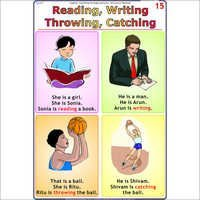 Reading-Writing-Catching-Throwing Engish Chart
