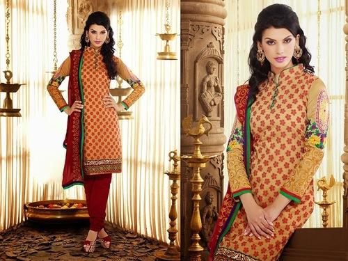 Latest Design Cotton Chanderi Salwar Suit