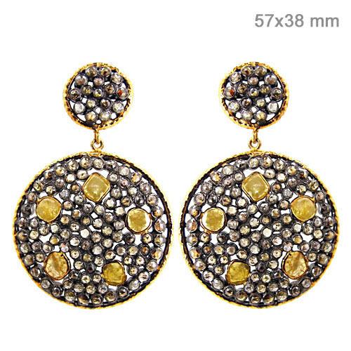 Slice Diamond Earrings Jewelry