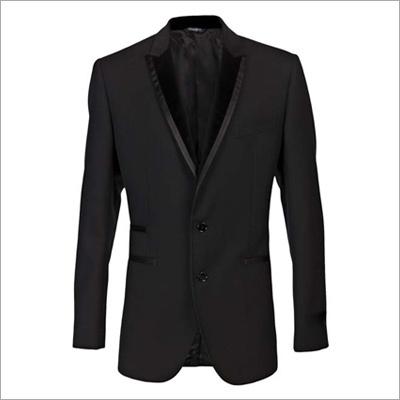 Mens Black Textured Blazer