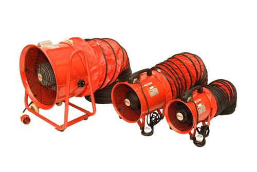 Portable Electric Fans & Flexible Ducting Hose