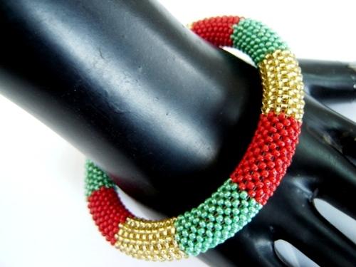 Multi Colored Beaded Bangles