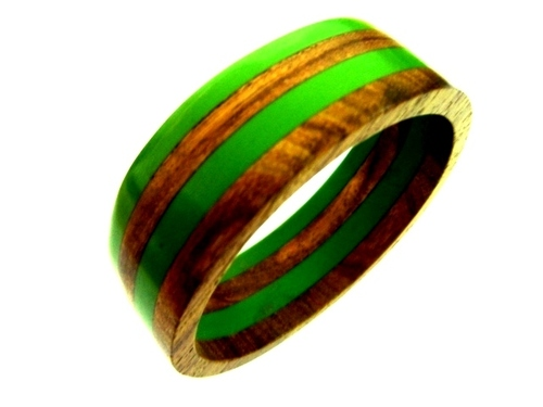 Multi Color Wooden Bangle