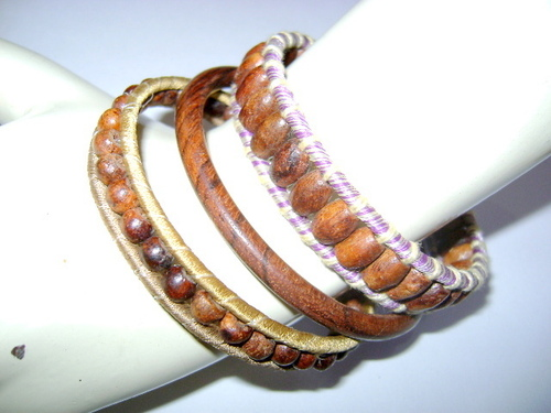 Tribal Beaded Bangle Set