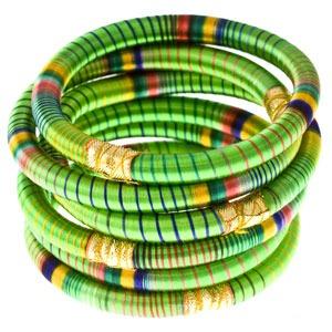 Green Indian Bangle Set
