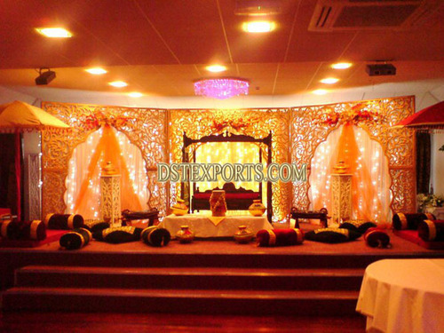 Asian Wedding Carved Stage With Swing