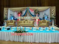 Asian Wedding Decorated Stage Set