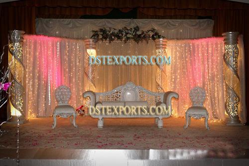 Latest Asian Wedding Crystal Stage Set