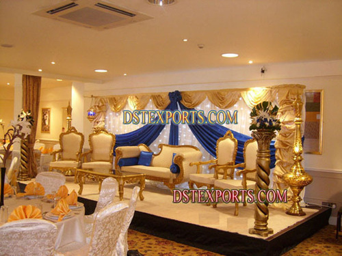 Asian Wedding Gold Stage Set