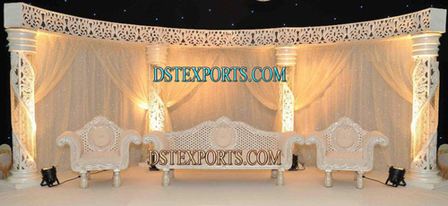 Asian Wedding Pearl Carved Stage
