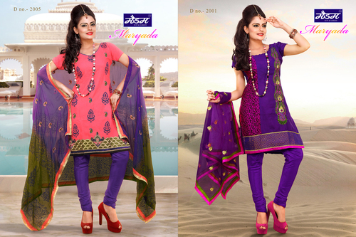 Designer Fancy Work Cotton Dresses