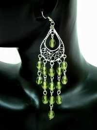 Green Classic Ear Ring