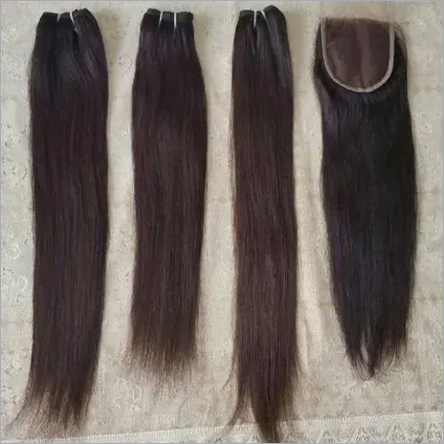 Single Drawn Machine weft human straight hair